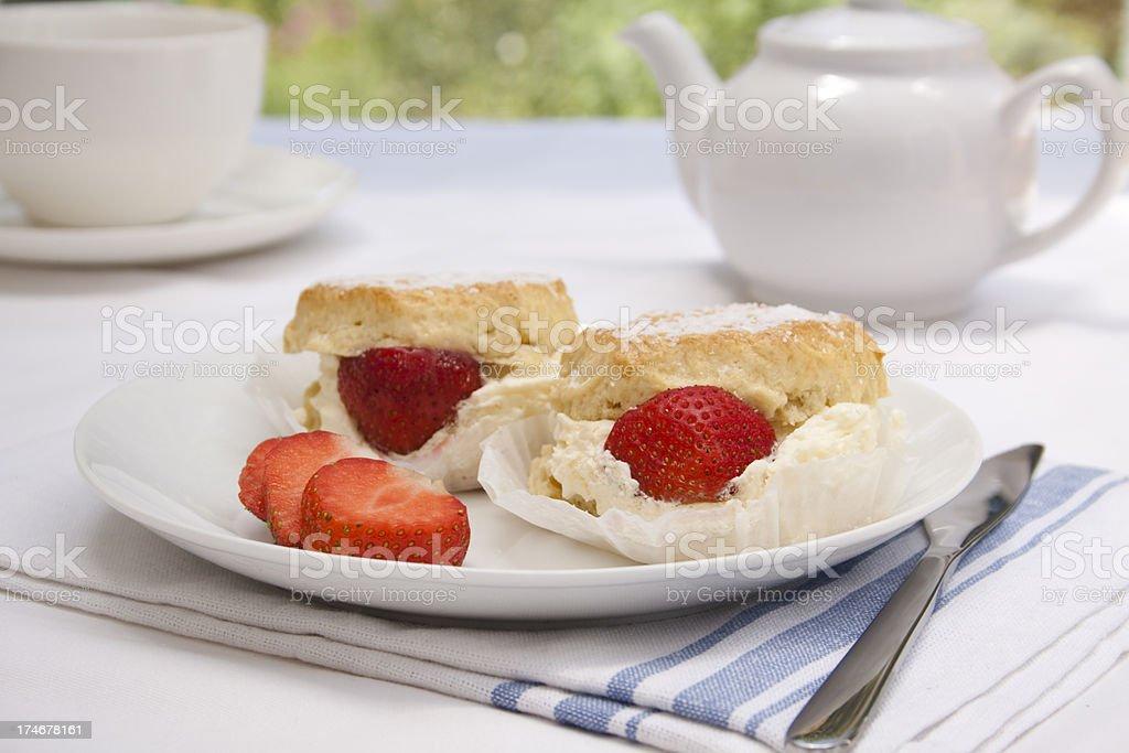 Cream Tea royalty-free stock photo