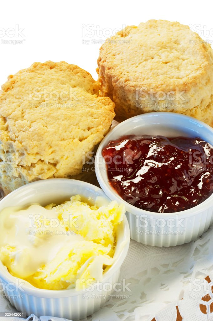 Cream Tea stock photo