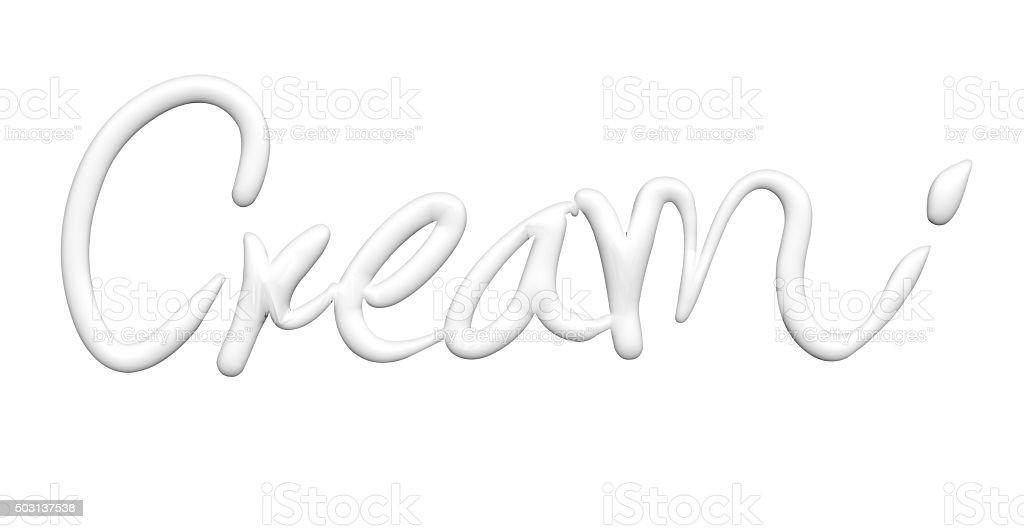 cream text design element stock photo