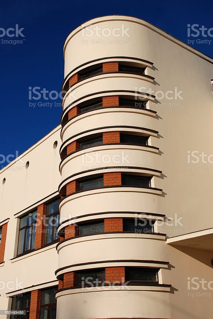 Cream-colour building royalty-free stock photo