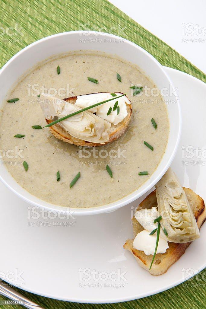 Creamy Artichoke Soup royalty-free stock photo
