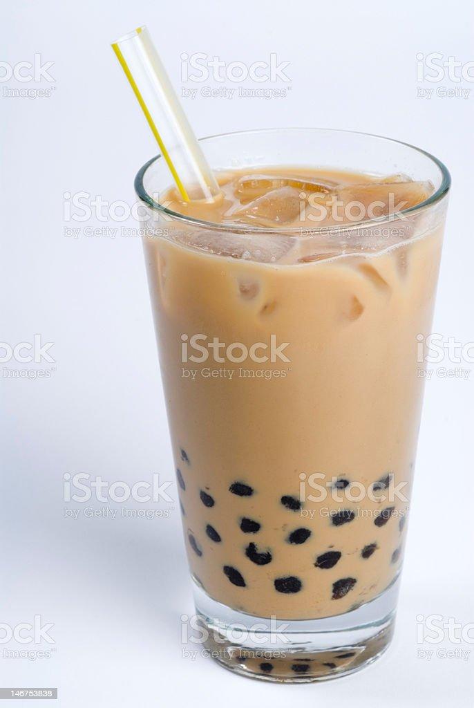 creamy bubble green tea stock photo