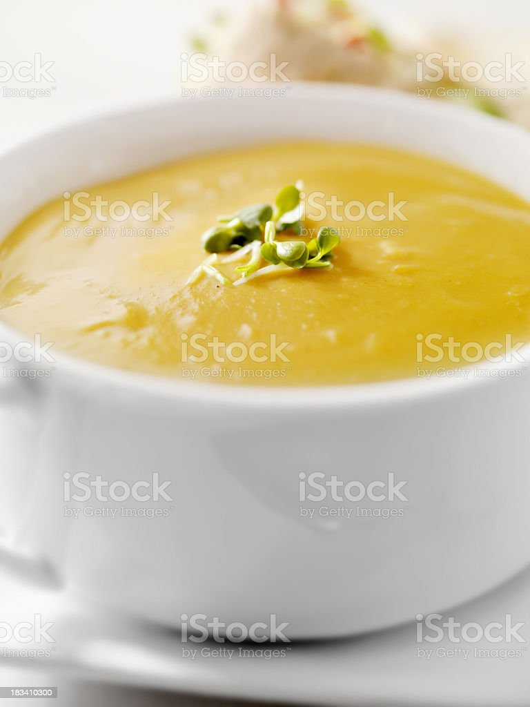 Creamy Butternut Squash Soup royalty-free stock photo