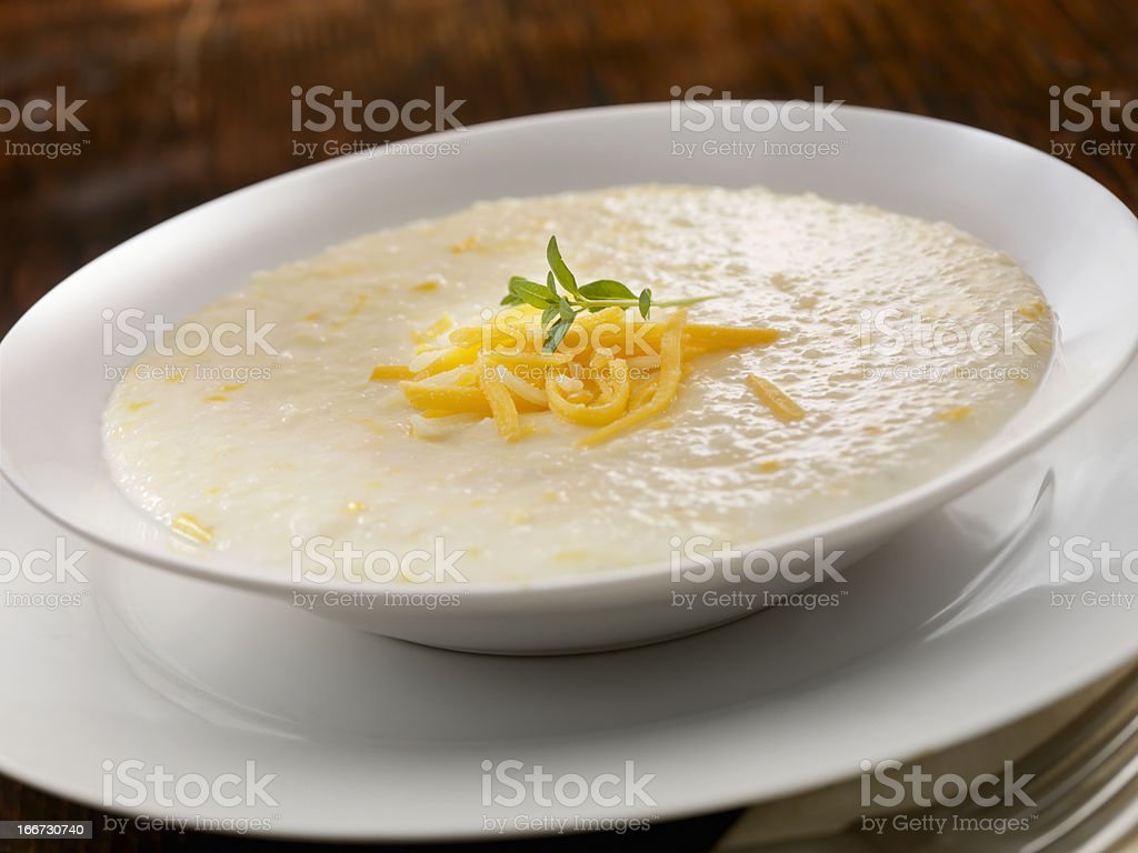 Creamy Cheese Grits stock photo