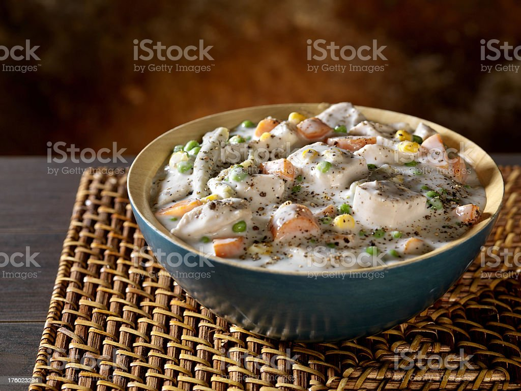 Creamy Chicken and Vegetable Casserole 1 royalty-free stock photo