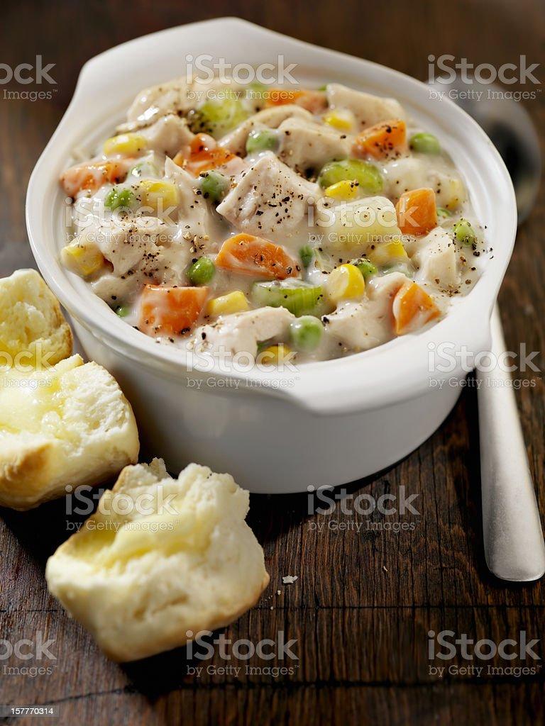Creamy Chicken Soup stock photo