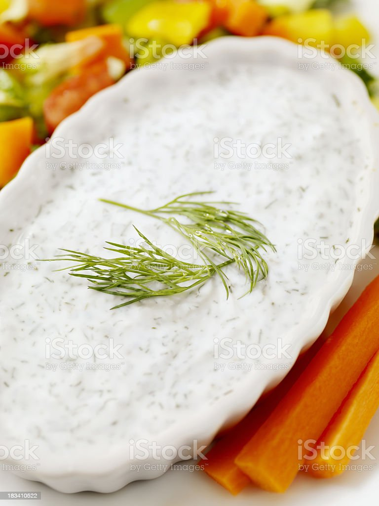 Creamy Dill Vegetable Dip royalty-free stock photo