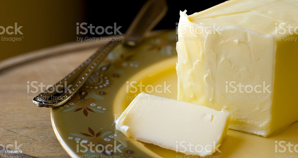 Creamy Fresh Dairy Butter for Baking royalty-free stock photo