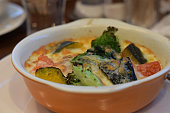 Creamy gratin with vegetables