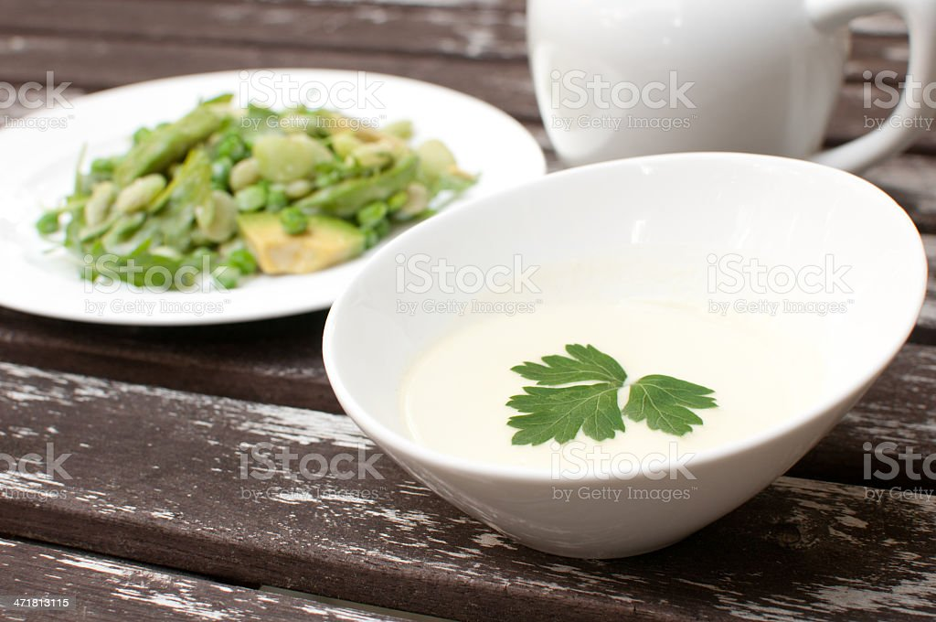 Creamy mayonnaise dressing for salad royalty-free stock photo