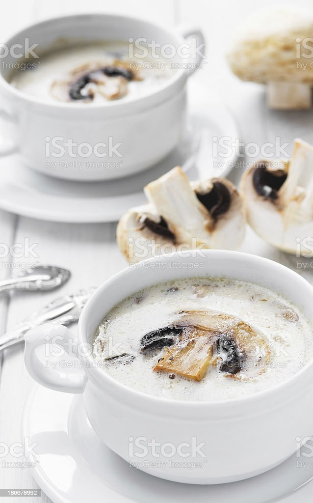 Creamy mushroom soup royalty-free stock photo