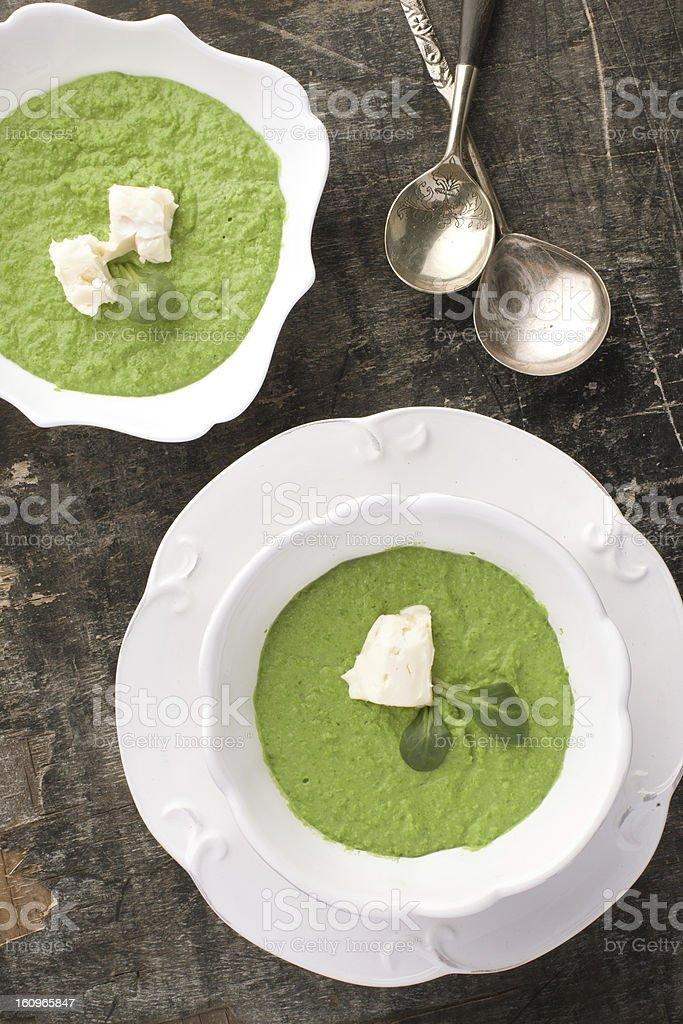 Creamy Pea Soup stock photo