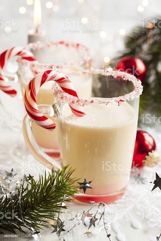 Creamy Peppermint Punch stock photo