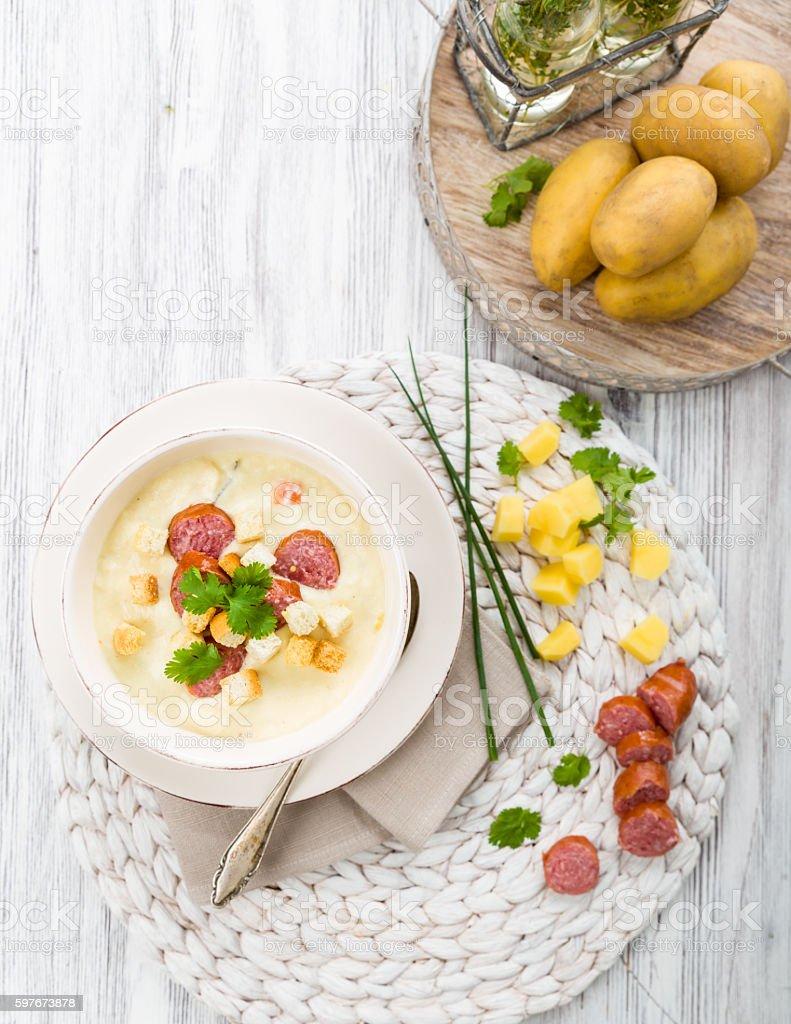 Creamy Potato Soup stock photo