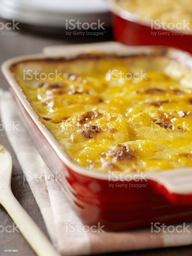 Creamy Potatoes Au Gratin stock photo