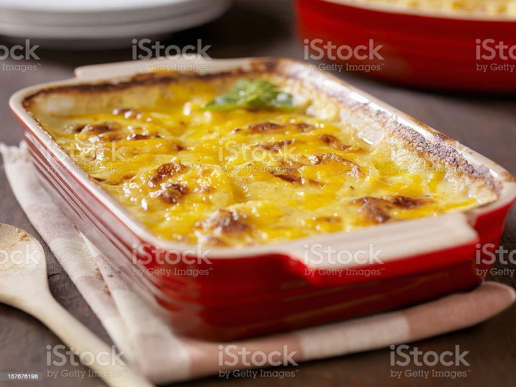 Creamy Potatoes Au Gratin stock photo