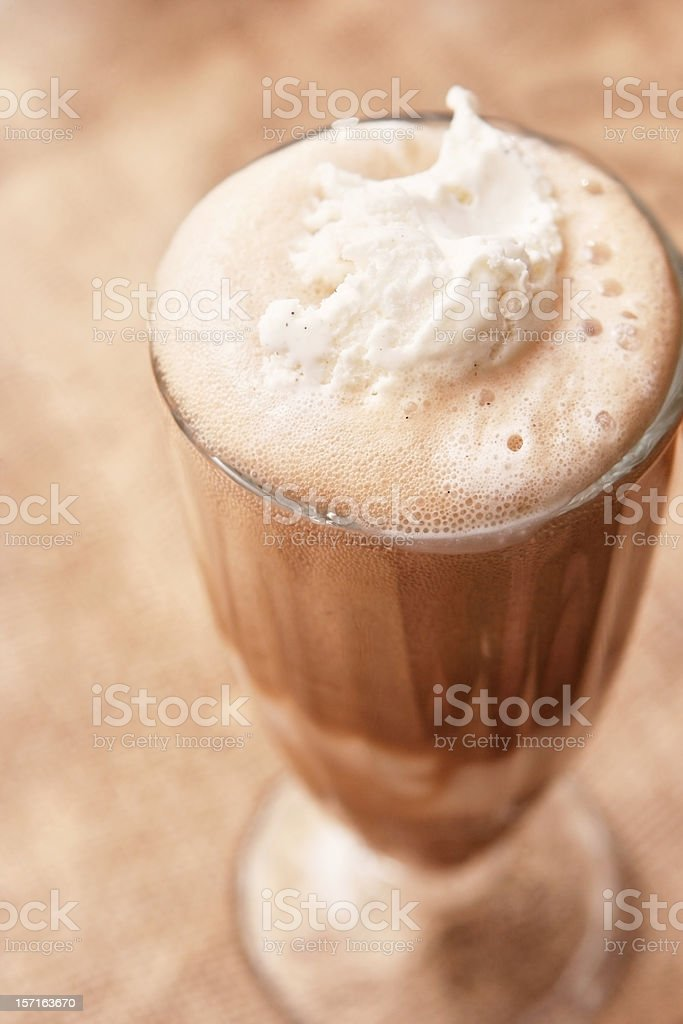 Creamy Root Beer Float royalty-free stock photo