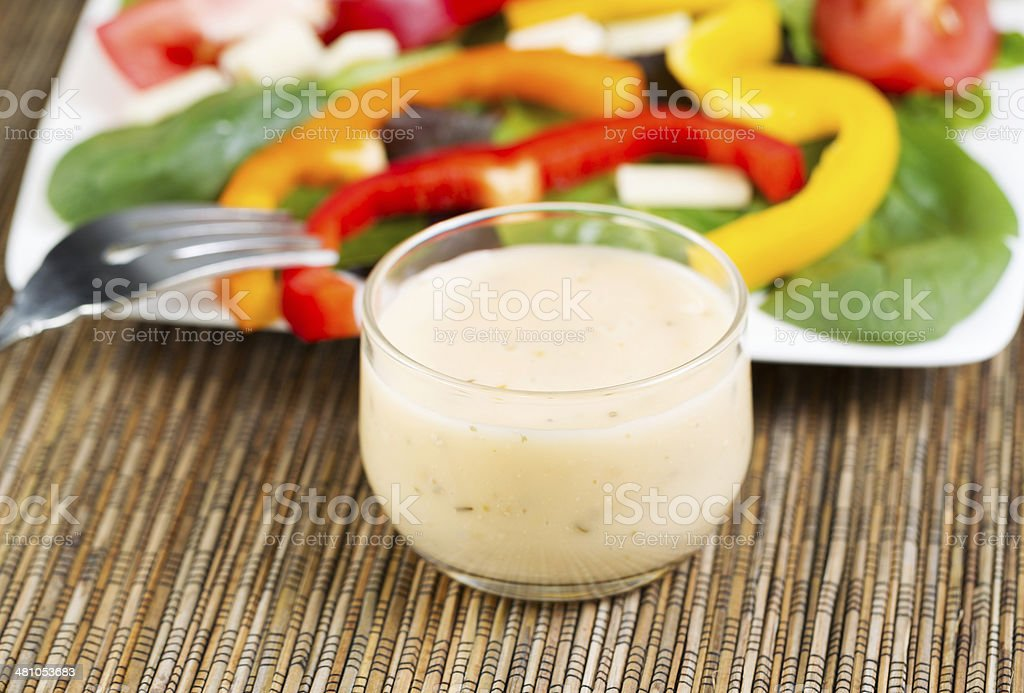 Creamy Salad Dressing stock photo