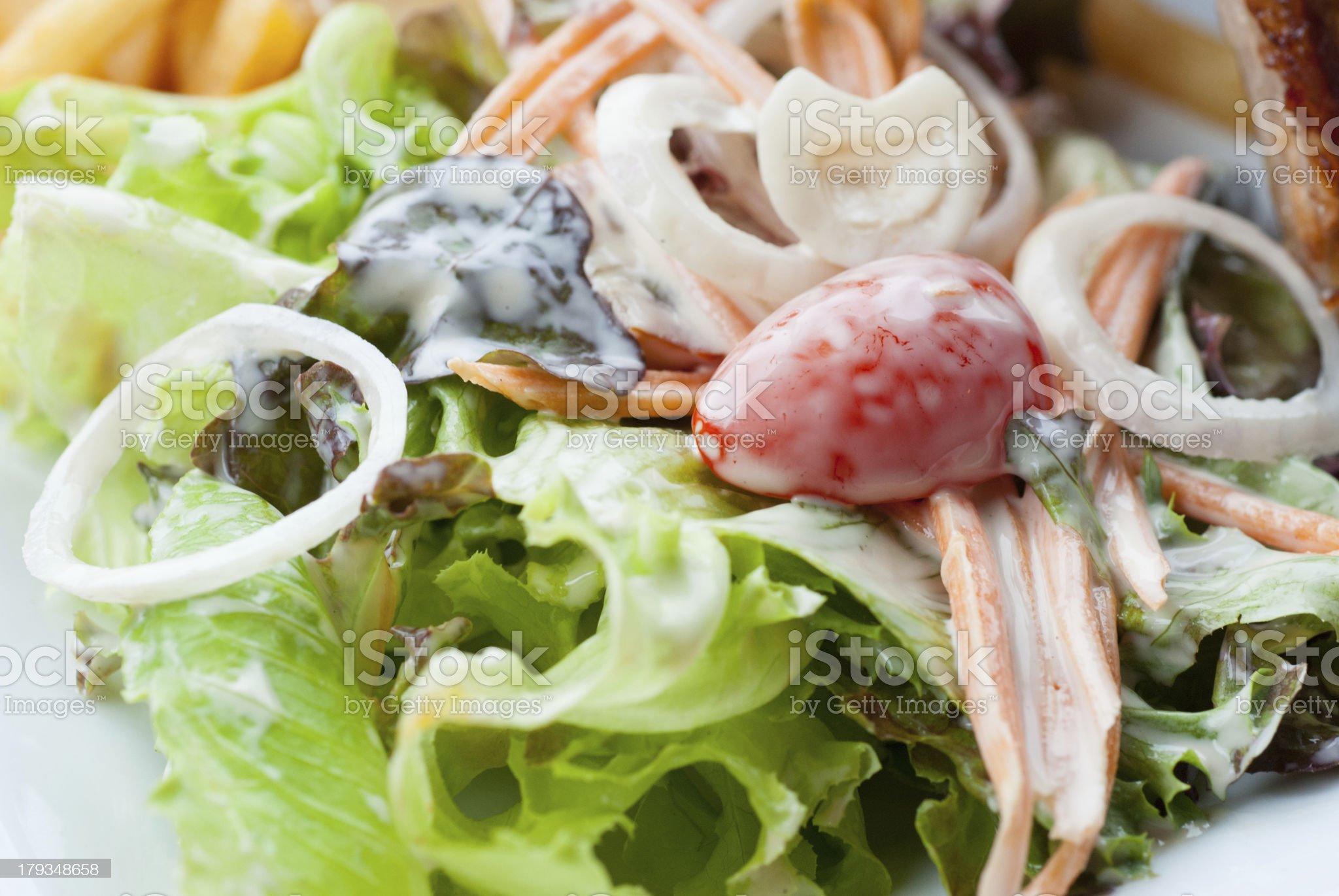 Creamy salad royalty-free stock photo