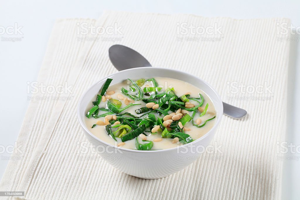 Creamy soup royalty-free stock photo