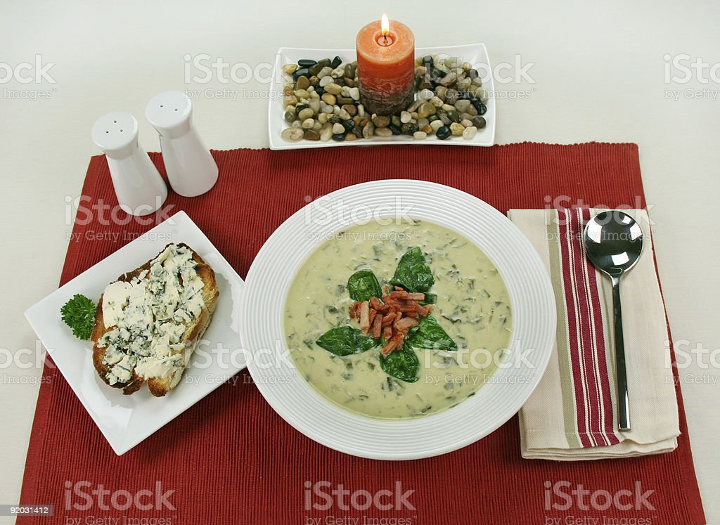 Creamy Spinach Soup royalty-free stock photo