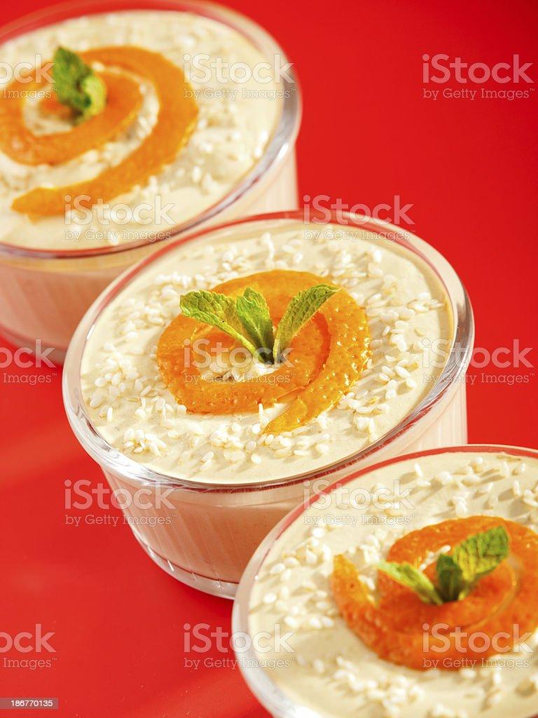 Creamy Tahini Dessert royalty-free stock photo