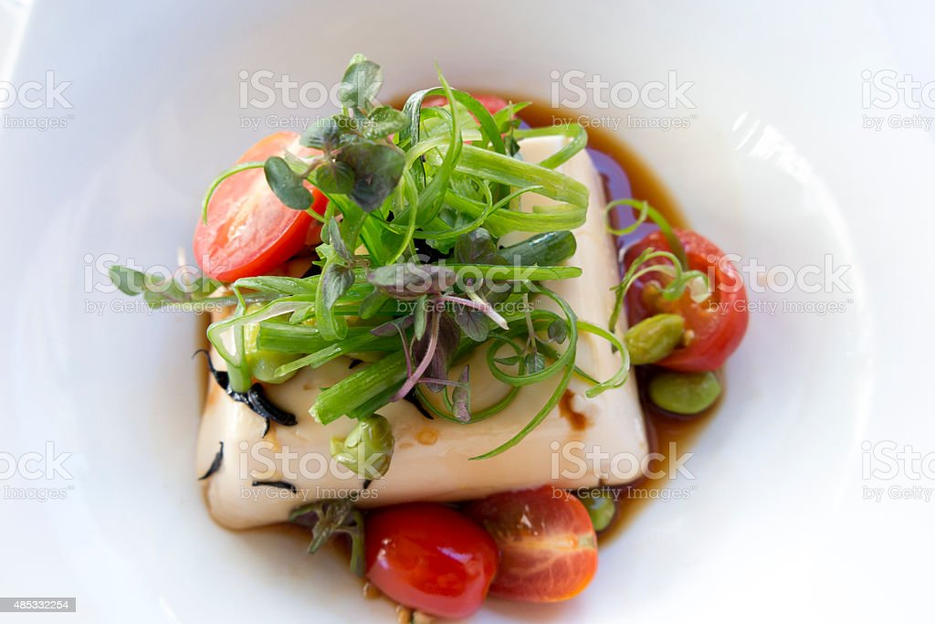 Creamy Tofu stock photo