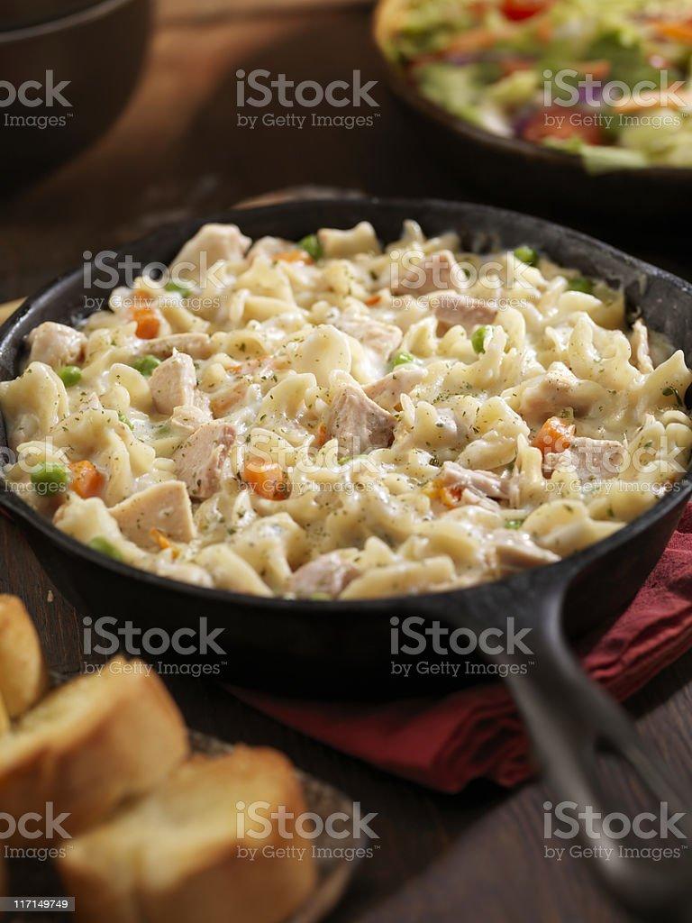 Creamy Tuna and Pasta Dinner stock photo