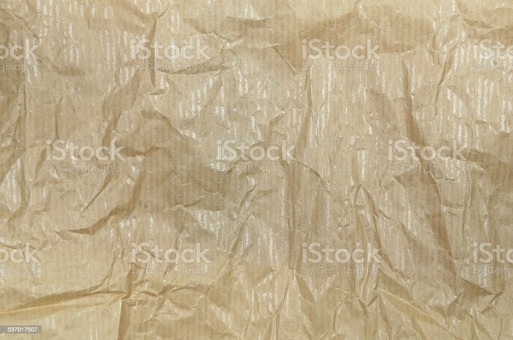 Creased Greaseproof Paper, Detail stock photo