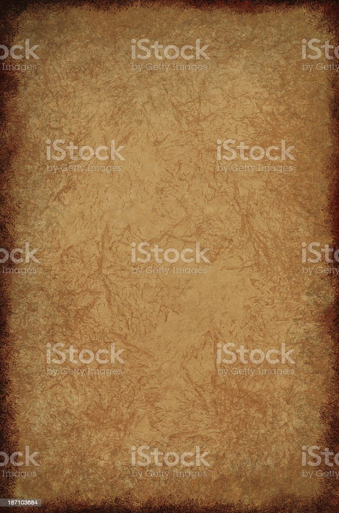 Creased Parchment Texture stock photo