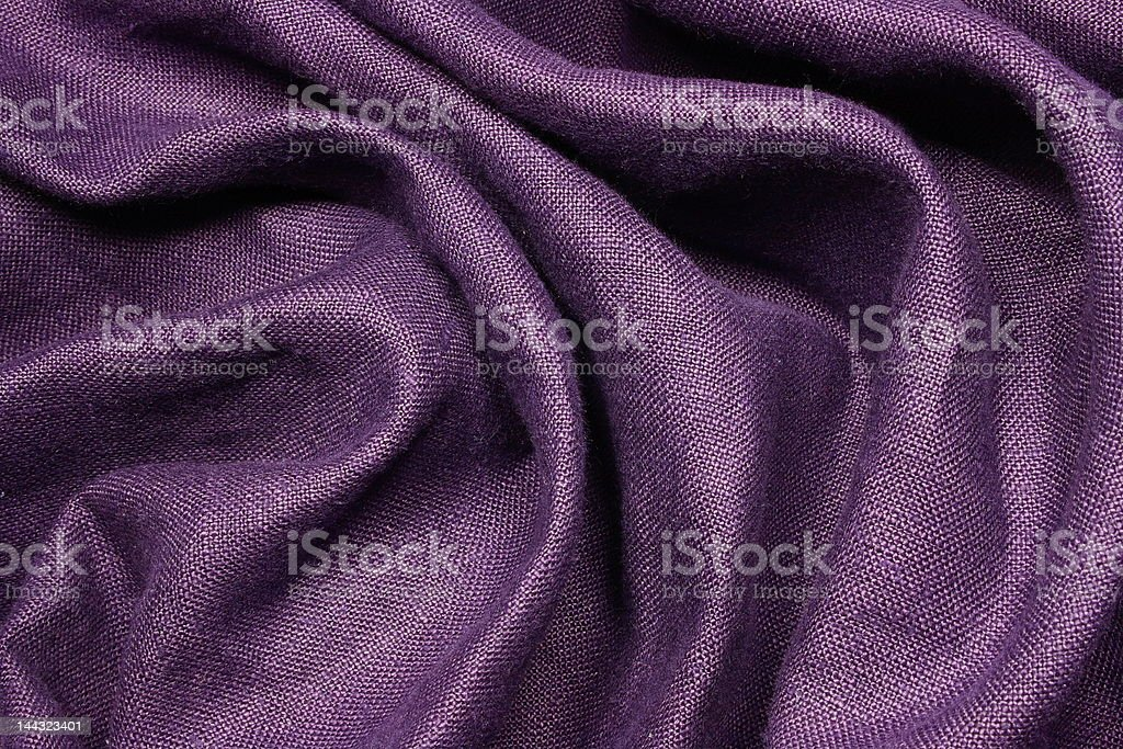 Creased Purple Linen royalty-free stock photo