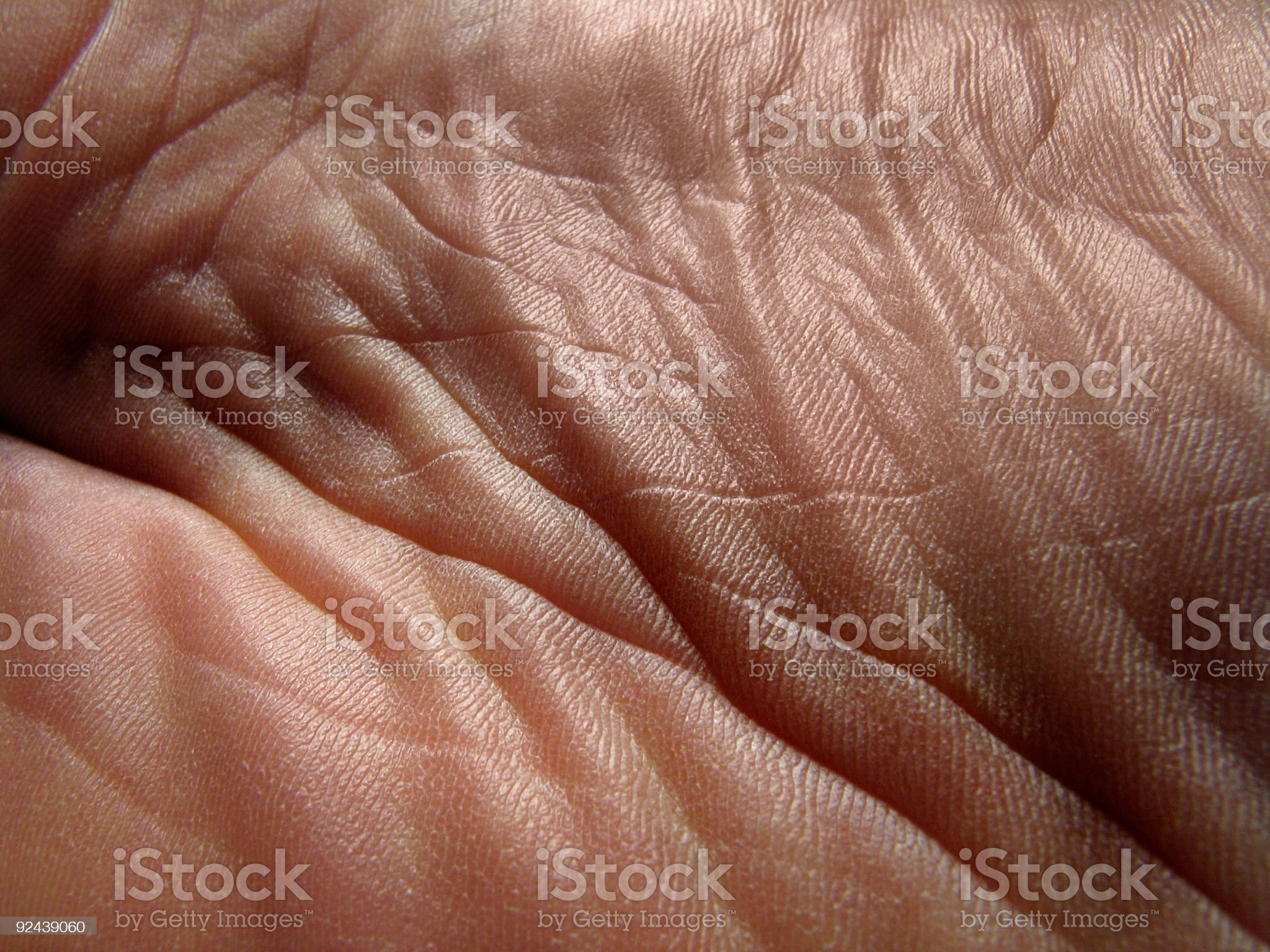 Creased  skin royalty-free stock photo