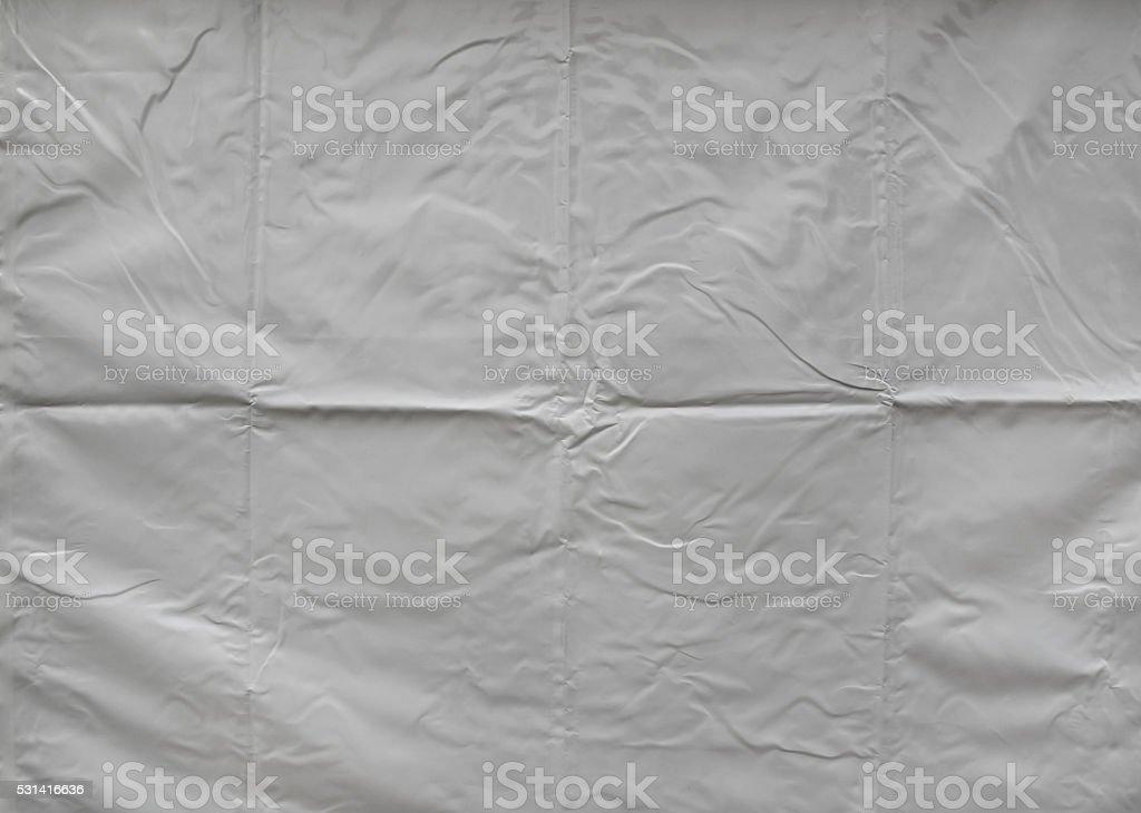 Creased tarpaulin texture stock photo