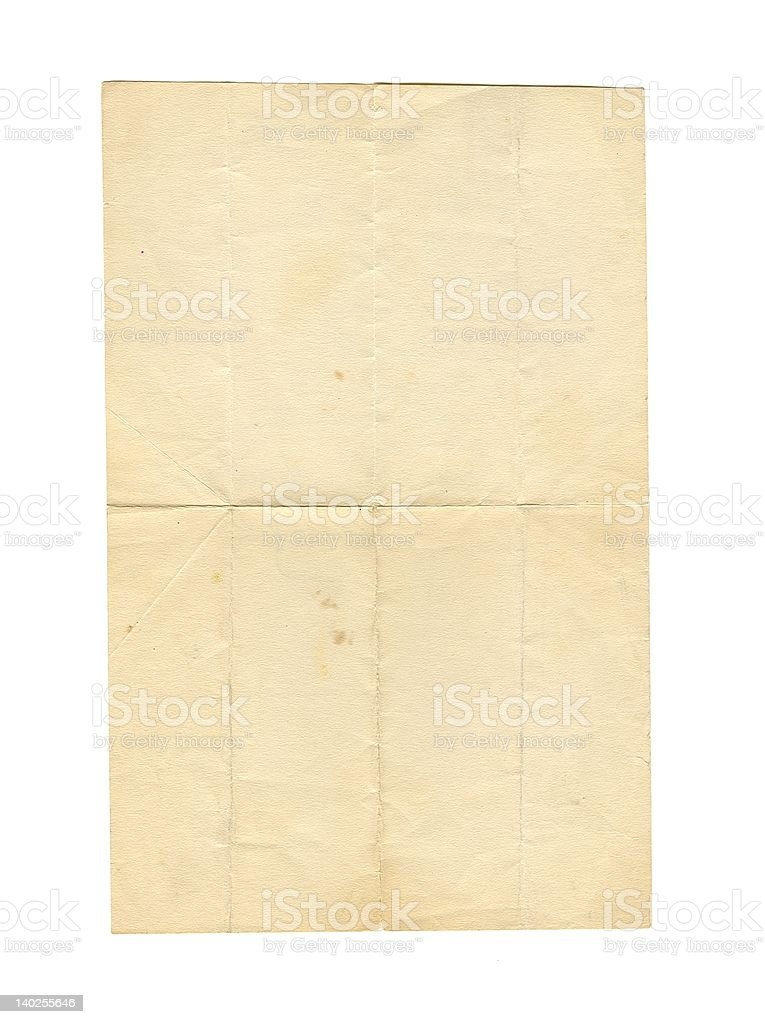 Creased, Vintage Paper stock photo