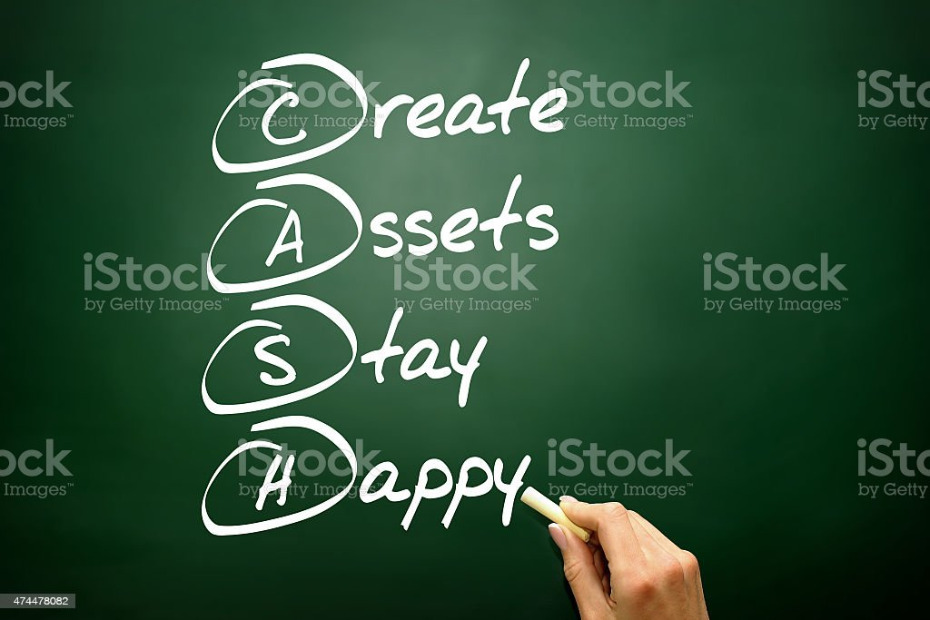 Create Assets Stay Happy (CASH) stock photo