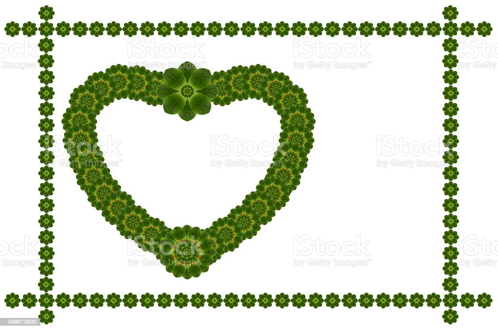 Create from leaf.(Valentine card concept royalty-free stock photo