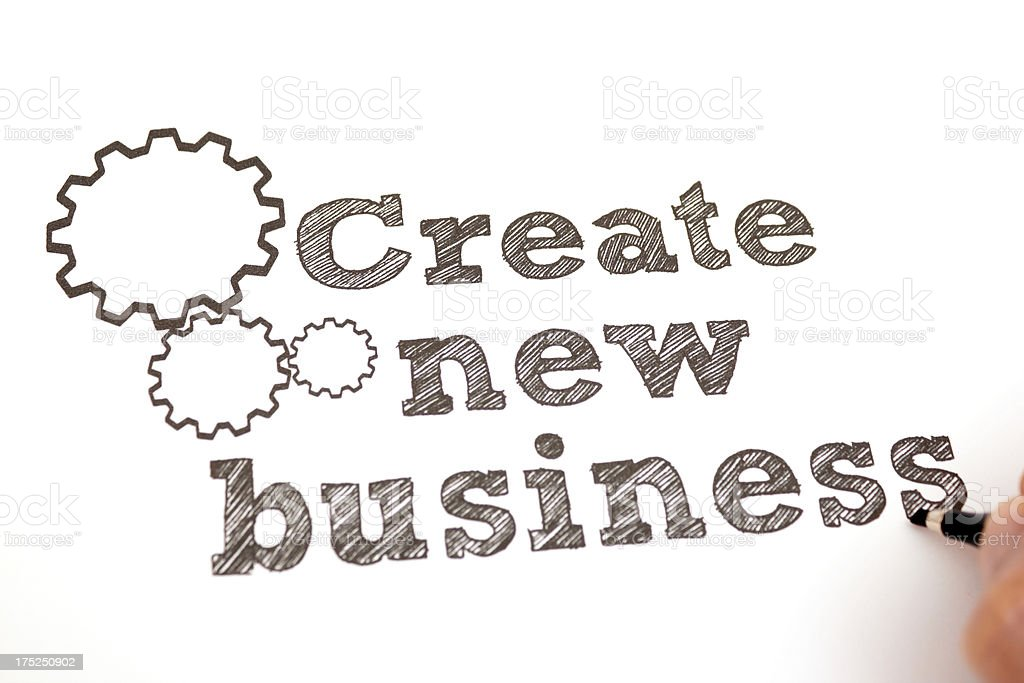 Create new business royalty-free stock photo