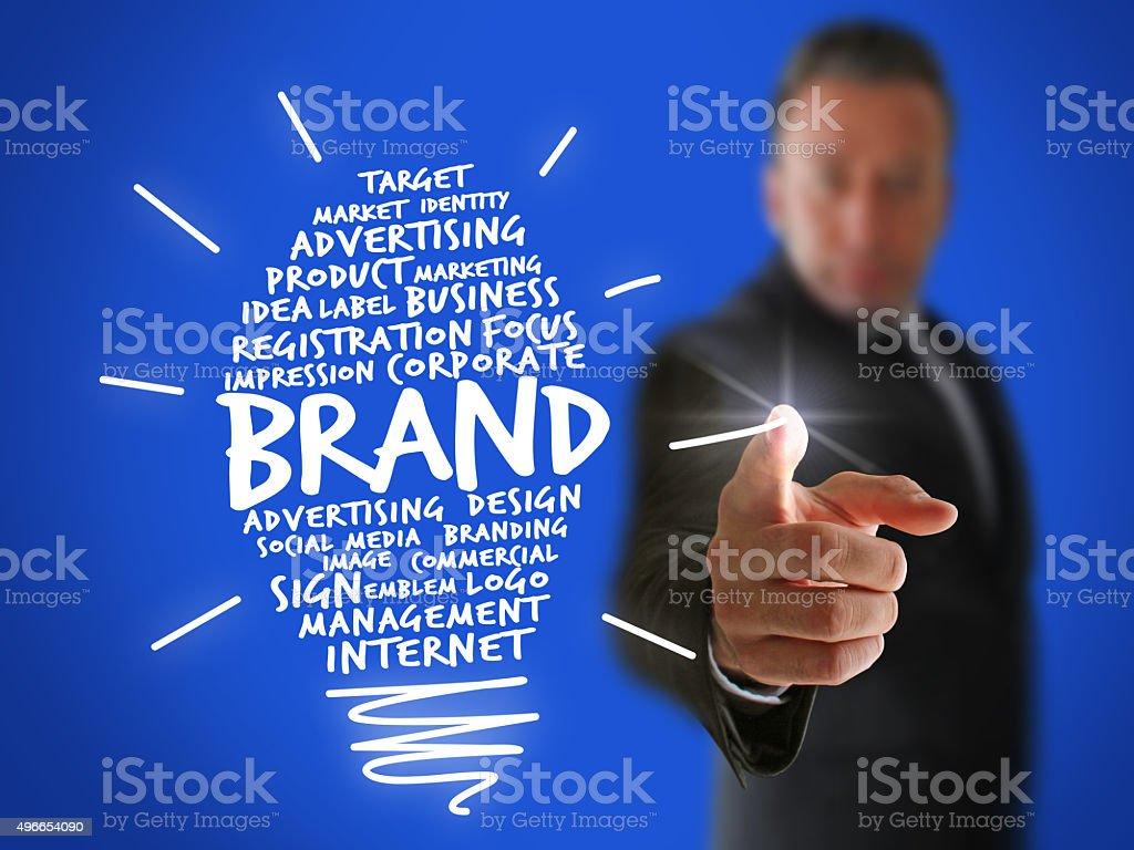 Creating a Brand Idea stock photo
