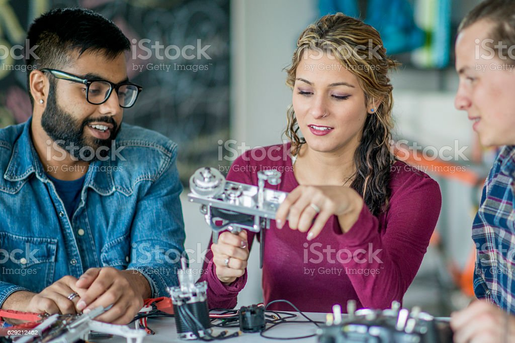 Creating a New Mechanical Design stock photo