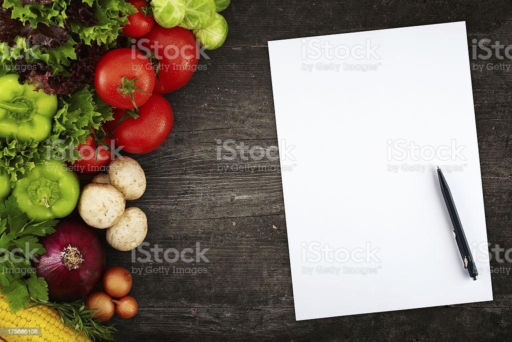 Creating a Recipe royalty-free stock photo