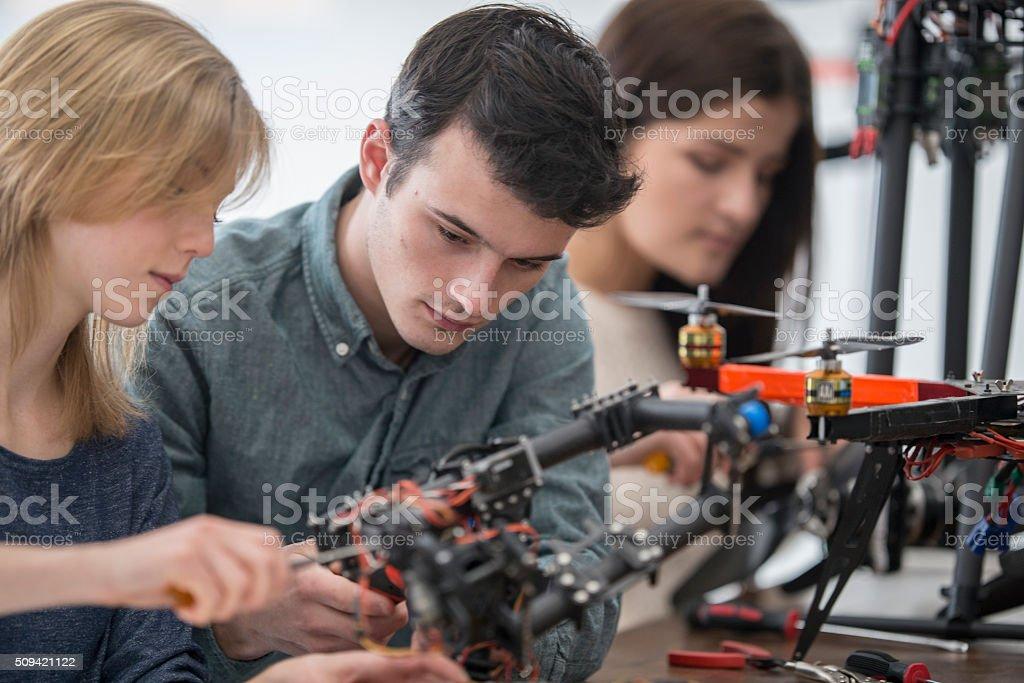 Creating a Robotic Arm stock photo