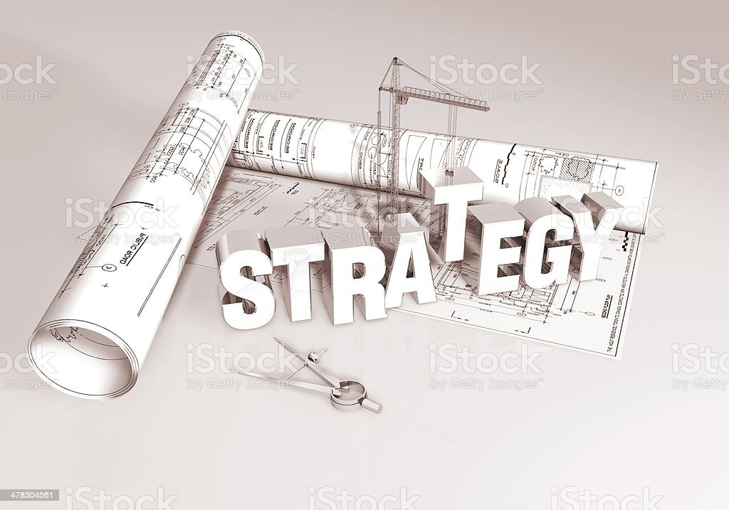 Creating a Strategy royalty-free stock photo