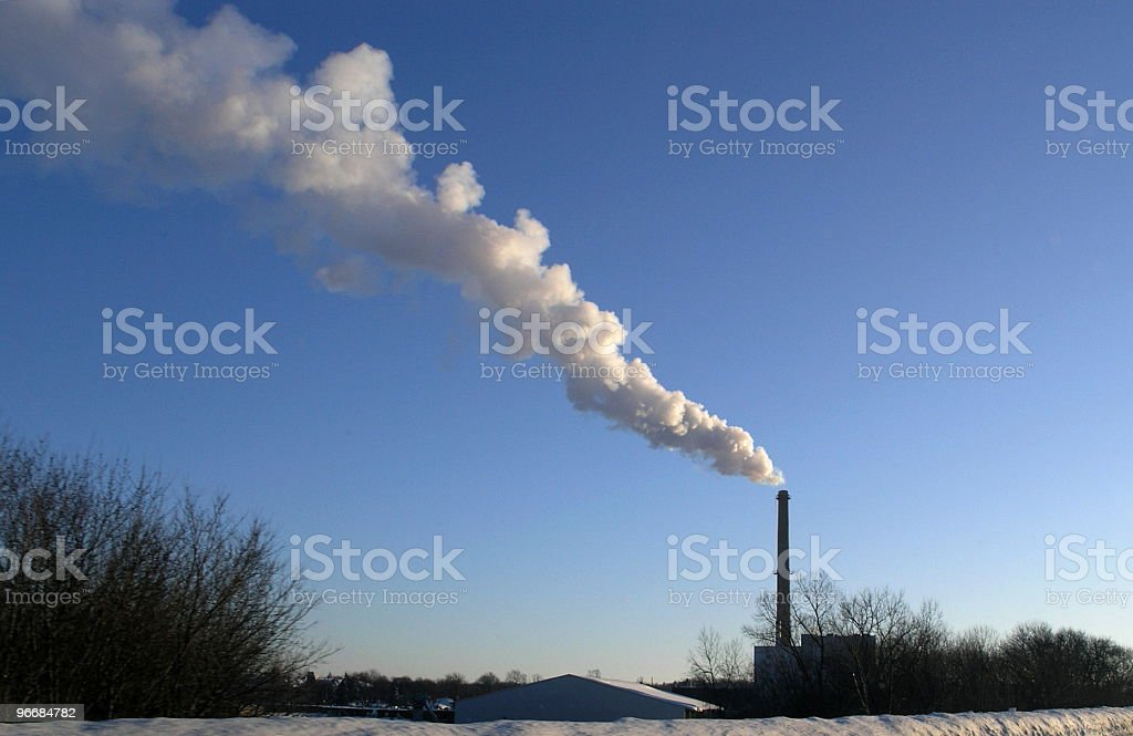 Creating Electricity on a Cold Winter Day royalty-free stock photo