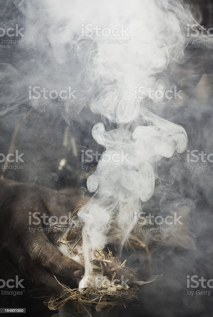 Creating Fire stock photo