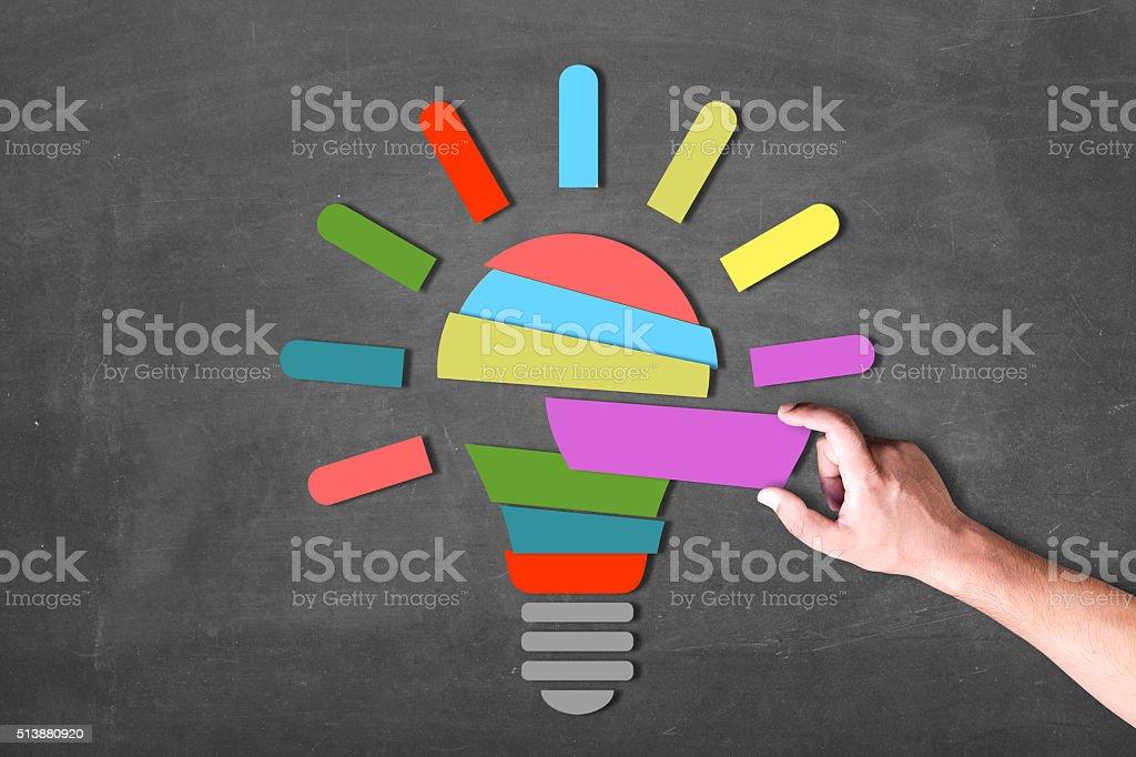 Creating good energy stock photo