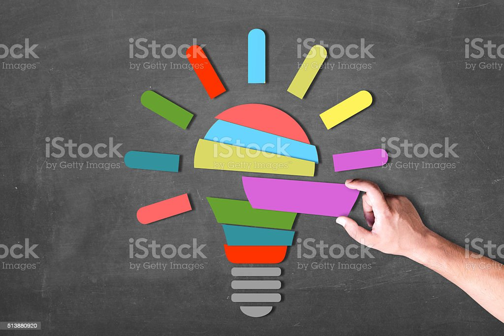Creating good energy stock photo