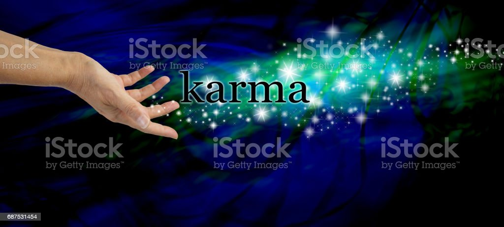 Creating Karma stock photo