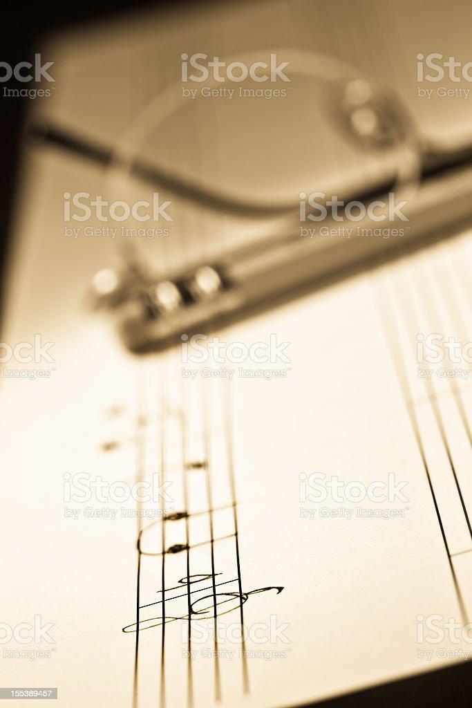 Creating music royalty-free stock photo