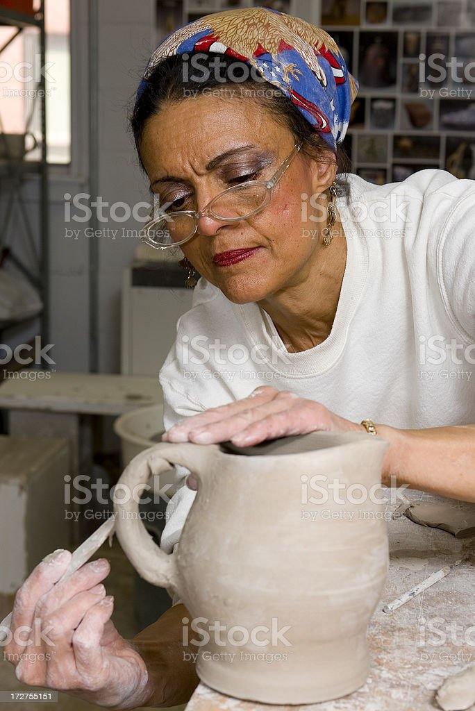 Creating Pottery royalty-free stock photo