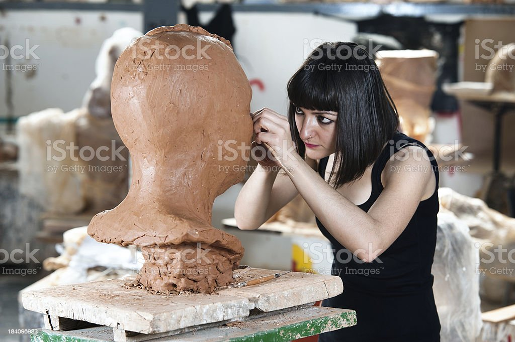 Creating Sculpture royalty-free stock photo